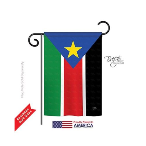 Breeze Decor 58296 South Sudan 2-Sided Impression Garden Flag - 13 x 18.5 in.