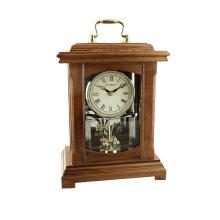 Wm.Widdop Wood Mantel Clock Lantern Style With Handle