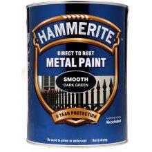 HAMMERITE Direct To Rust Metal Paint - Smooth Dark Green - 5 Litre [5084893]