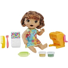 Baby Alive E3696 Snackin' Shapes Baby with Brown Hair