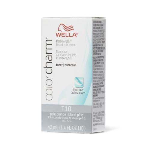 (T10 Pale Blonde) Wella Color Charm Permanent Liquid Hair Toner - Blondes