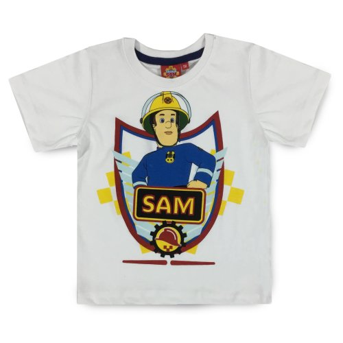 Fireman Sam T Shirt - White