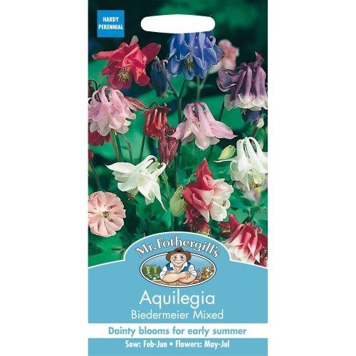 Mr Fothergills - Pictorial Packet - Flower Aquilegia  Biedermeir Mixed Seeds