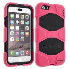 Griffin Survivor All-Terrain Case Cover for iPhone 7 Plus / iPhone 8 Pink Black