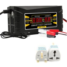 12V Intelligent Smart Car Battery Charger 6AMP Fast Battery Charger Portable