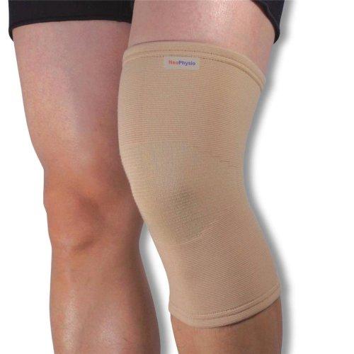 Medical Grade Elastic Compression Knee Support Beige Tubular Sleeve - XXL = 46-50cm