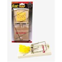JUMBO WOODEN RAT TRAP CLASSIC-SNAP-RAT/MOUSE REUSABLE HEAVY DUTY TRAP