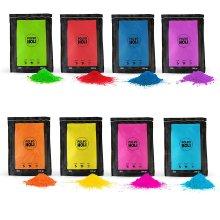 800g Holi Powder Pack - 8 bags of 100 grams - 8 Colors