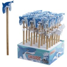 Fun Shark Design Pencil and Eraser Set