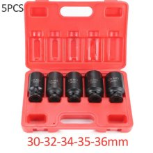 "5PCS Axle Hub Nut Socket 1/2"" Drive Impact Sockets Kit 30-36mm"