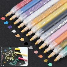 12PCS Acrylic Paint Marker Pens  Art Rock Metal Glass Pebble