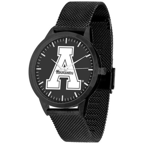 Suntime ST-CO3-ASM-STATEM-BB Appalachian State Mountaineers Mesh Statement Watch - Black Band & Dial