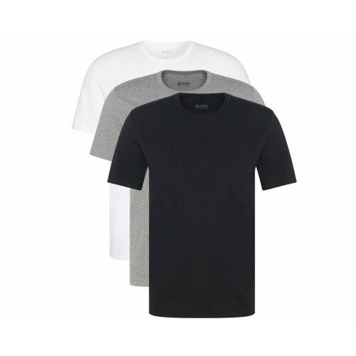 Men's Hugo Boss Piece Crew Neck Mens T-Shirt White Black Grey L