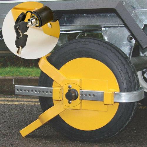 """Solid Steel 13-15"""" Car Van Wheel Clamp Safety Lock for caravan Trailer"""