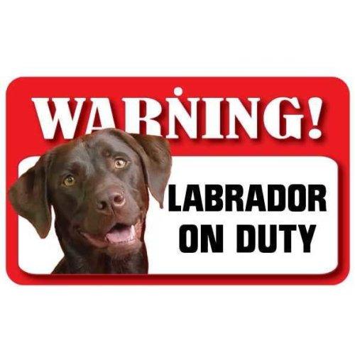 Chocolate Labrador Pet Sign