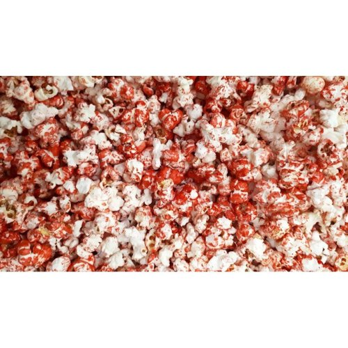 Popcorn sweet red colour with a hint of cherry flavour 300g Halal