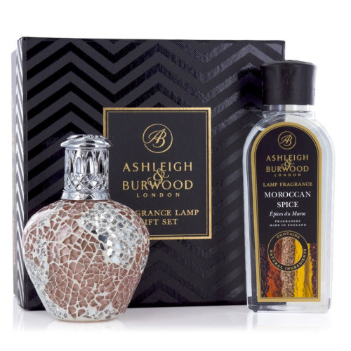 Ashleigh & Burwood Fragrance Oil Lamp Home Gift Set Diffuser Apricot Shimmer