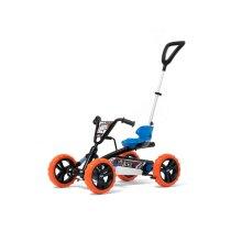 BERG Blue/Orange Buzzy Nitro 2-in-1 Pedal Go Kart With Parental Push Bar