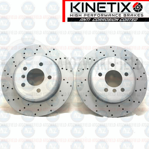 FOR BMW 5 SERIES 530d F10 F11 M SPORT FRONT DRILLED PERFORMANCE BRAKE DISCS 348m