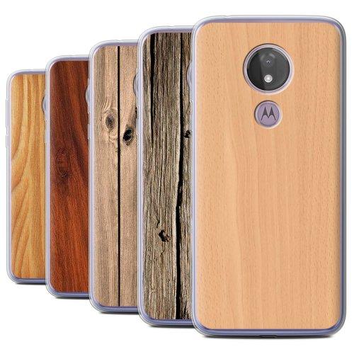 Wood Grain Effect/Pattern Motorola Moto G7 Power Phone Case Transparent Clear Ultra Soft Flexi Silicone Gel/TPU Bumper Cover