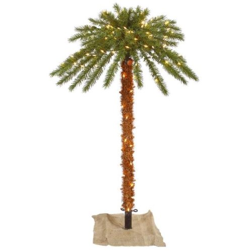 Vickerman K169161 Outdoor Tree Dura-Lit Christmas Palm with Clear Lights - 6 ft.