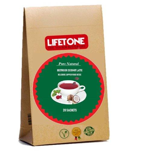 Beetroot coconut milk latte,A Delicious supper food detox,20 Sachets