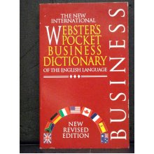Webster`s Pocket Business Dictionary Of The English Language - Used