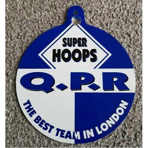 """QPR Car/Bedroom Window Hanger """"Q.P.R The Best Team In London"""""""