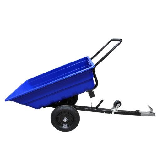 ATV Trailer Garden Tipping Heavy Duty Dump Cart Pneumatic Tyres 295kg