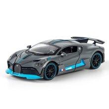 1/32 Alloy Bugatti Supercar Model Toy Die casting Model Gift Children's Toy Car(gray)