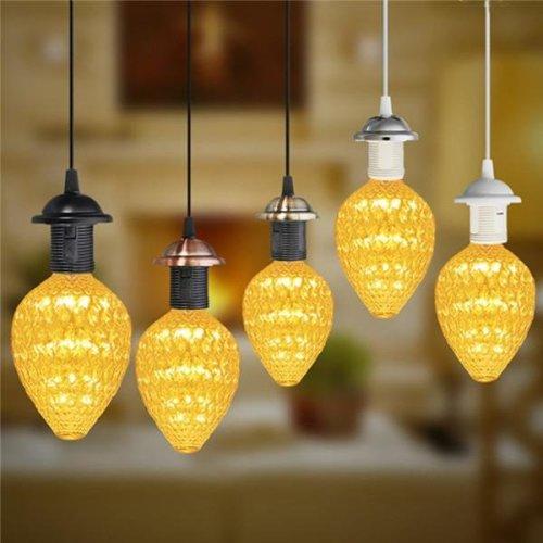 E27 Vintage Holder Fitting LED Ceiling Lamp Industrial Loft Iron Chandelier Fixture Pendant Lamp