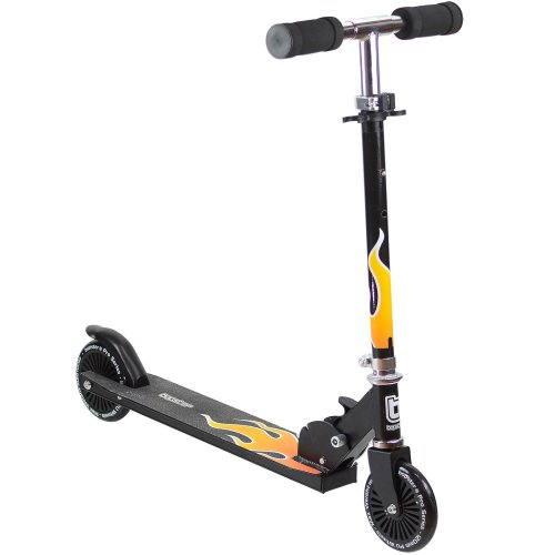 Bopster Kid's 2-Wheeled Folding Kick Scooter With Flame Design