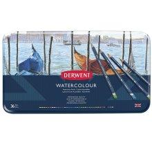 Derwent 32885 Watercolour Pencils, Set of 36, Professional Quality, Multicolour