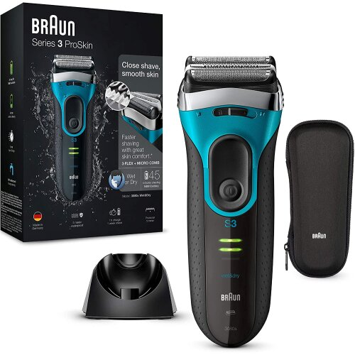 Braun Series 3 ProSkin 3040s Electric Shaver, Wet and Dry Electric Razor for Men with Pop Up Precisi Electric Shavers