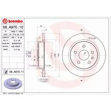 Rear Pair (2x) of Brake Disc BREMBO 08.A970.11