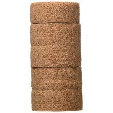 3M Coban Self Adherent Bandage, Tan, 2.5cm Wide x 4.5m Long, Pack of 5