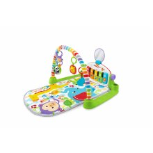 Fisher-Price Kick and Play Piano Gym, New-Born Baby Play Mat with Activity Centre, Music and Sounds, Suitable from Birth