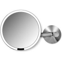 simplehuman ST3002 20cm Wall Mount Sensor Mirror, Brushed Stainless Steel