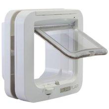 SureFlap Microchip Cat Flap 21cm | White 5-Way Locking Cat Door