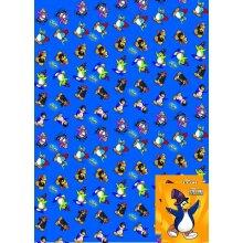 Club Penguin gift wrap