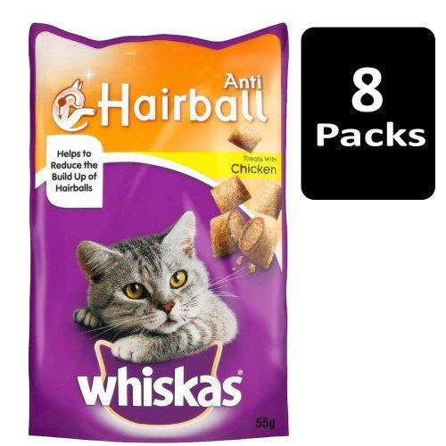 WHISKAS Anti-Hairball Cat Treats 8x55g