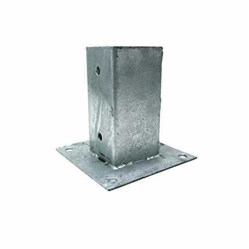 Galvanised Bolt Down Fence Anchor - 91mm   Bolt Down Fence Grip