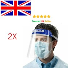 2 X Anti-Fog Full Face Covering Shield Clear Glasses Face Protection Tooling