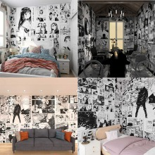 Popular anime self-adhesive wallpaper room decoration