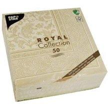 Papstar 1168150Serviettes ROYAL Collection 1/4Fold 40x 40cm, Ornaments, Champagne