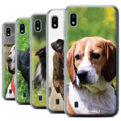 Popular Dog/Canine Breeds Samsung Galaxy A10 2019 Phone Case Transparent Clear Ultra Soft Flexi Silicone Gel/TPU Bumper Cover