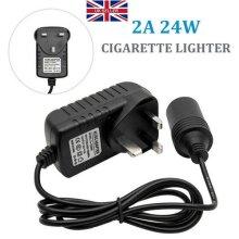 12V Car Cigarette Lighter Mains Plug to Socket Adapter Converter AC/DC