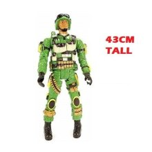 JUMBO ARMY SOLIDER FIGURE 43CM TALL MILITARY ADVENTURE ACTION FIGURE DOLL TOY