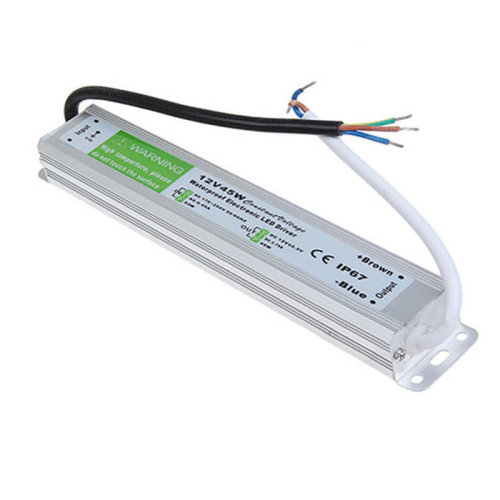 Waterproof DC12V IP67 45W 3.75A LED Driver Power Supply Transformer