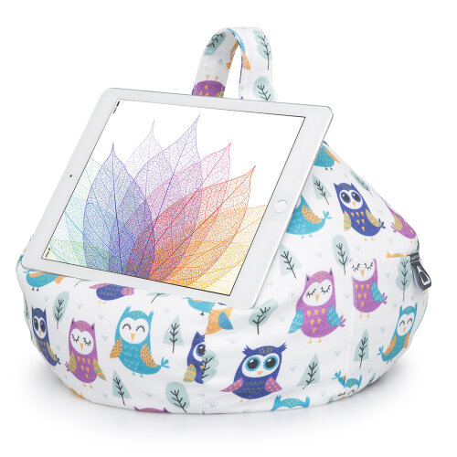 (Owl) iBeani Bean Bag Cushion Stand for iPad, Tablets & Ebook readers   Stable Tablet Holder for All Devices